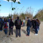 Explicación grupal en la actividad en la Albufera