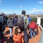 Asistentes en terraza de la Albufera en la actividad de Ambientalys