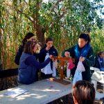 Una de las actividades de la actividad familiar organizada por Ambientalys